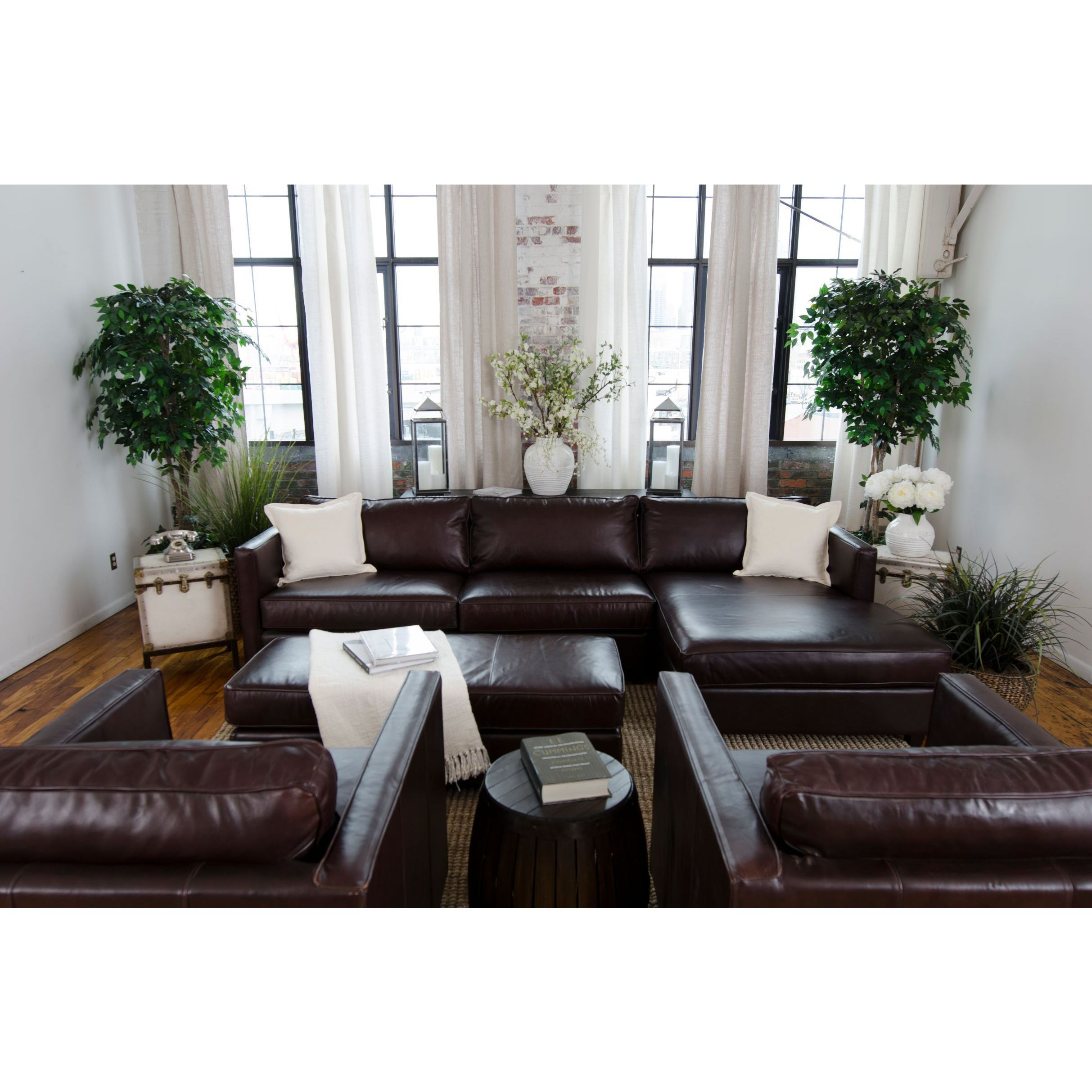 Best Urban Collection Cappuccino Top Grain Leather 4 Piece 640 x 480