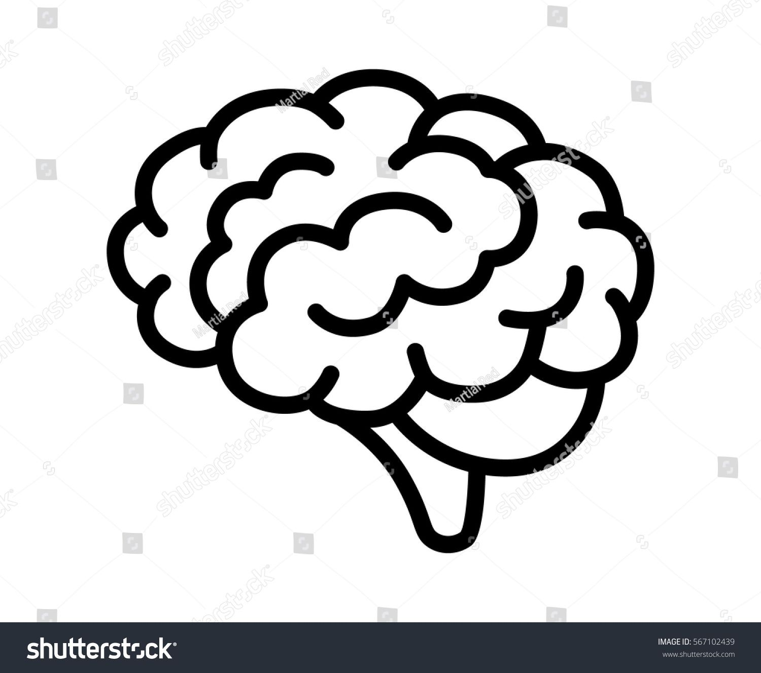 Brain Or Mind Side View Line Art Vector Icon For Medical Apps And Websites Ad Ad View Line Side Brain Line Art Vector Brain Icon Brain Drawing