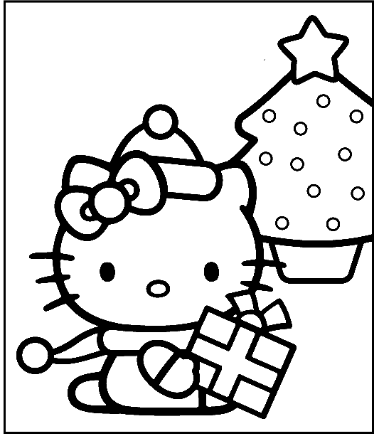 Hello Kitty Happy Merry Christmas Coloring Pages Christmas Coloring Pages Kidsdrawing Free C Star Coloring Pages Hello Kitty Coloring Love Coloring Pages