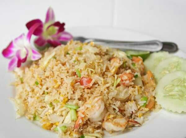 Lightened and Healthy Shrimp Fried Rice