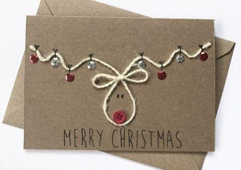 65 Ideen für Weihnachtskarten selber basteln #homemadechristmasgifts