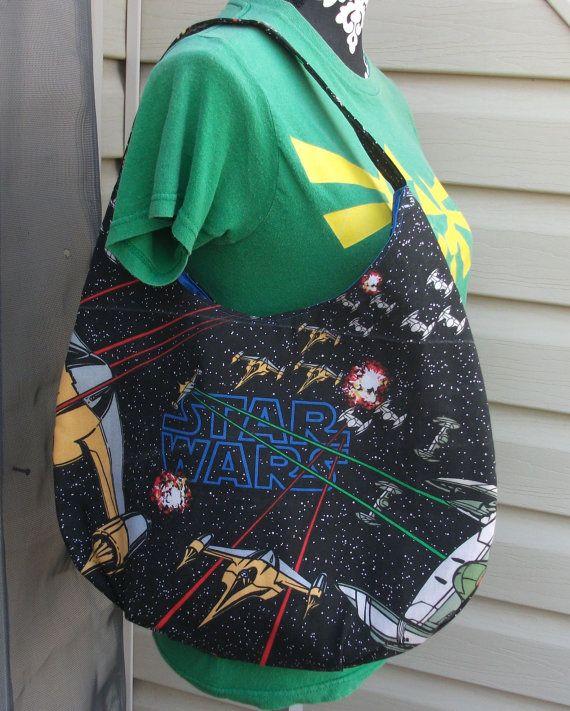 Star Wars Slouch / Hobo Bag by KraftyNerdSquad on Etsy