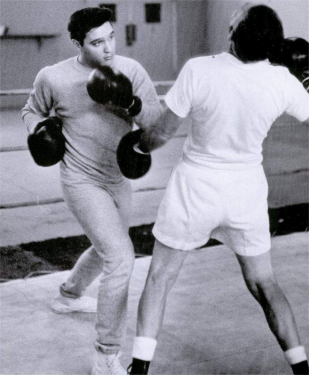 Elvis Training On The 'Kid Galahad' Set In Fall 1961. The