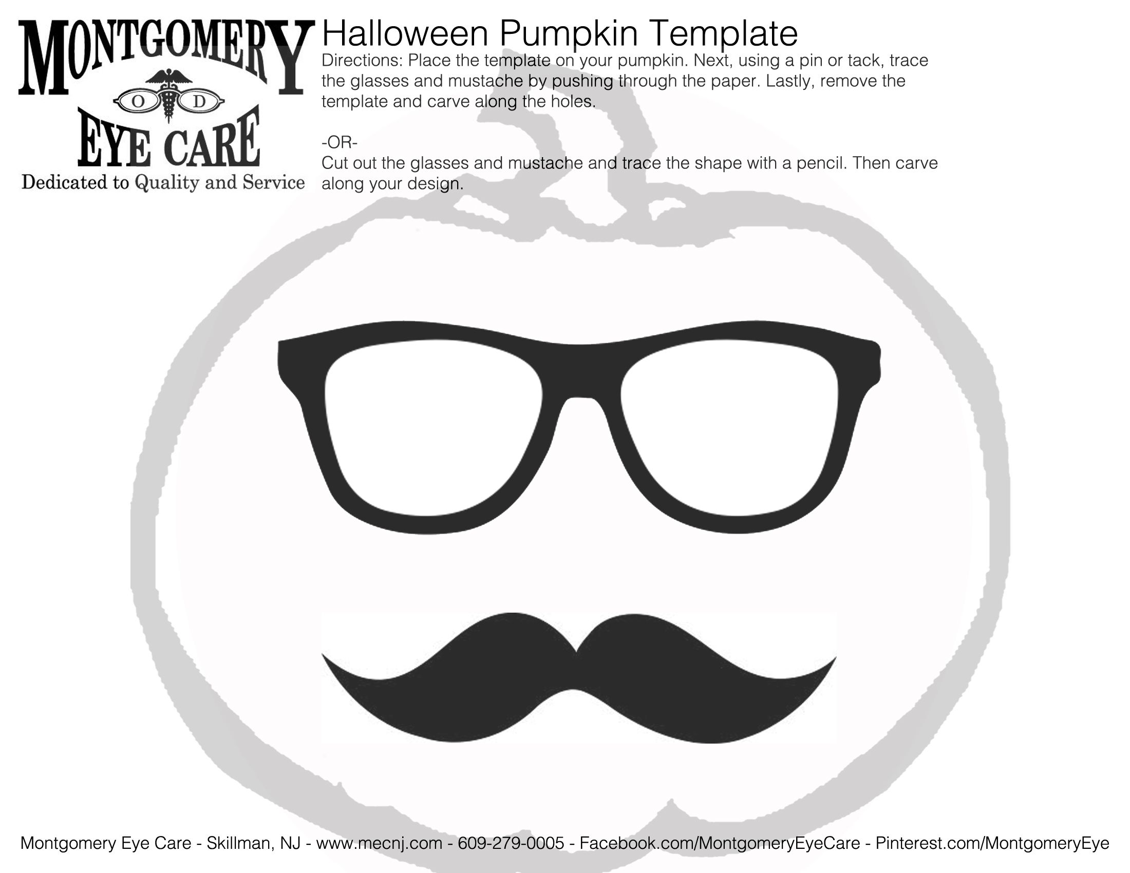 Halloween Pumpkin Carving Templates #geekchic #mustache #glasses ...