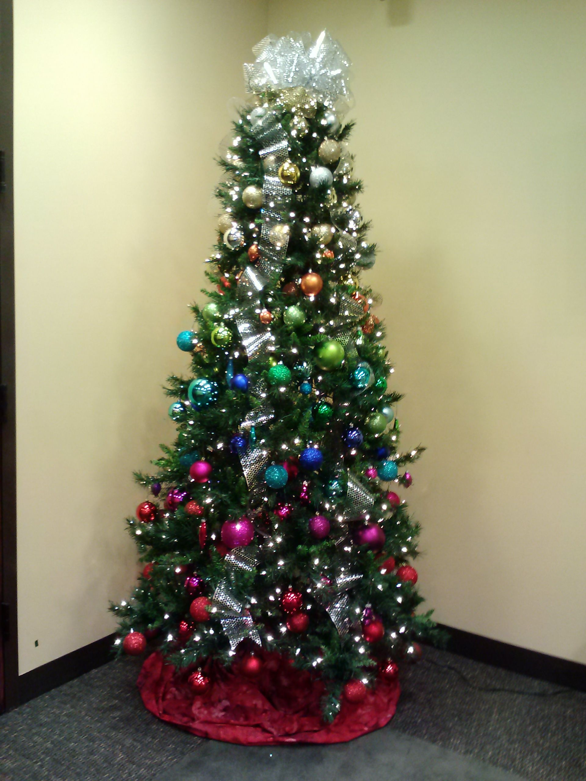 A color-blocked Christmas tree for one of our corporate clients: a ...