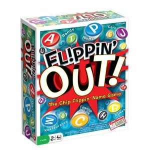 Flippin' Out, a board game similar to Scattegories but with more involved team play.