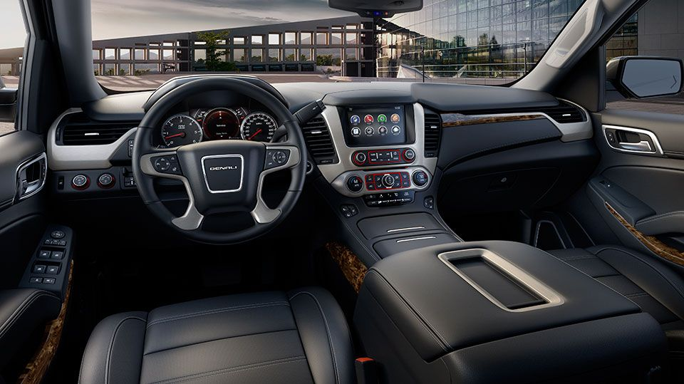 Driver S Dash And The Center Console Of The 2015 Yukon Denali Xl Full Size Extended Luxury Suv Yukon Denali Gmc Yukon Denali Gmc Yukon