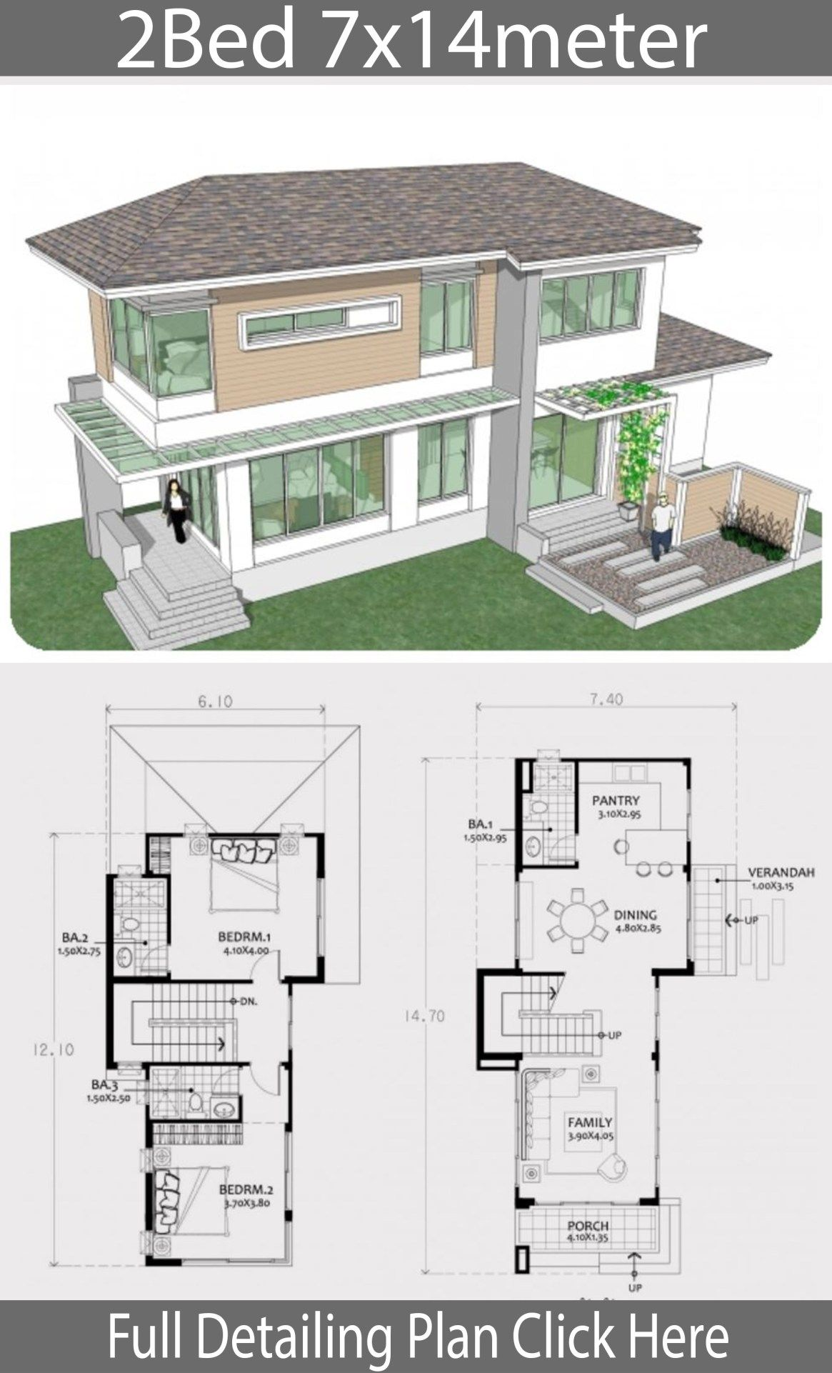 Small Two Story House Plan 7x14m Home Design With Plansearch Sims House Plans House Plans Two Story House Plans