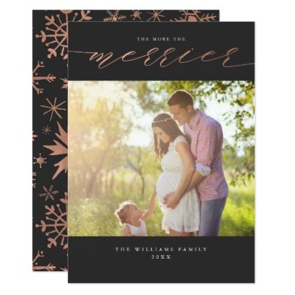 #The More The Merrier Christmas Photo Cards - #Xmascards #ChristmasEve Christmas Eve #Christmas #merry #xmas #family #holy #kids #gifts #holidays #Santa #cards