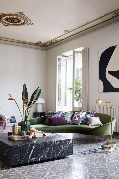 Photo of Kissenhülle aus Bio-Baumwolle – Weiß/Dunkellila – Home All   H&M DE