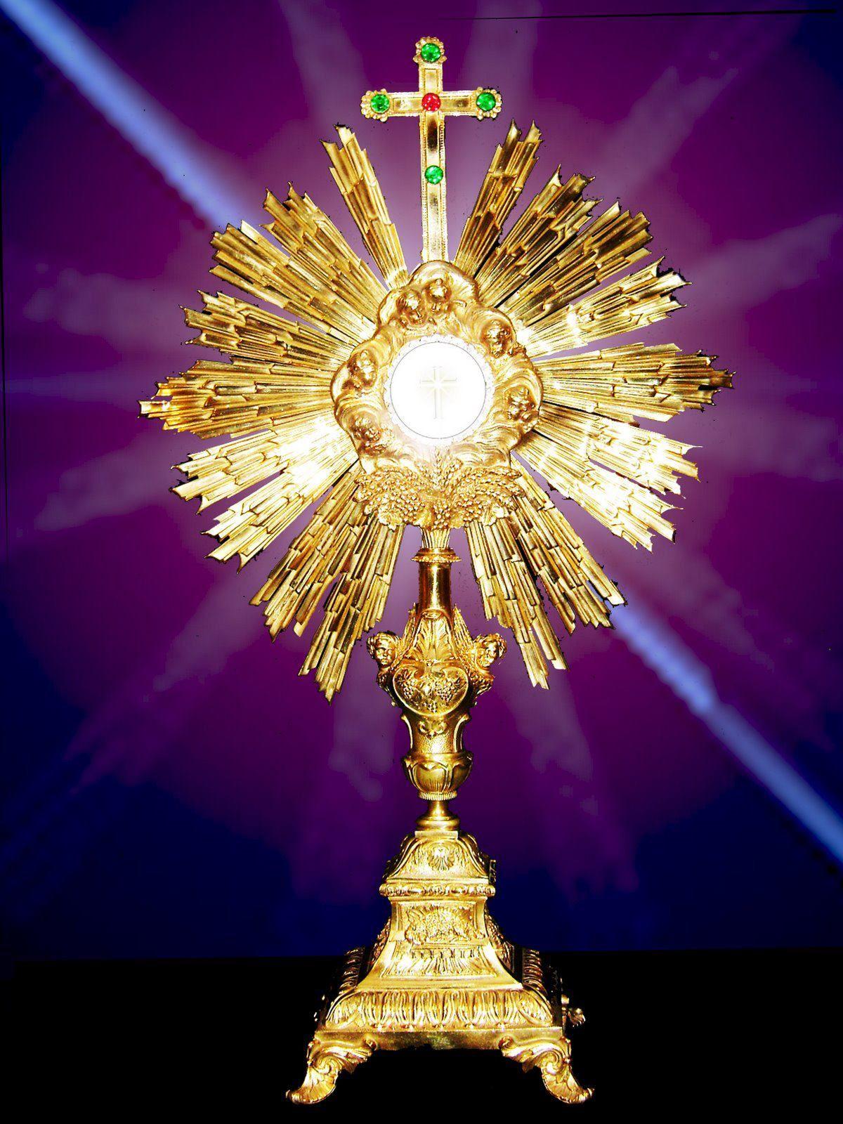 Most Holy Sacrament save your people----Santisimo sacramento salva a tu pueblo.