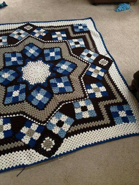 Granny Decke Crochet Patterns Pinterest Deckchen Stricken