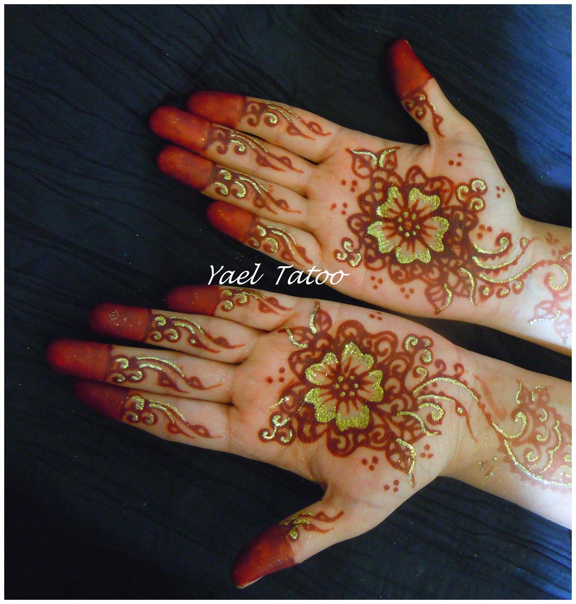 Henne Illumine De Paillettes Par Yael Le Henne Version Elegance 0620147095 Paillettes Paris Mariage Tatouage Tatoo Henne