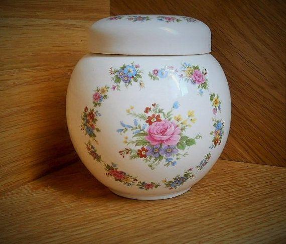 Ginger Jar Sadler Vase Made In England Flowers By Inglitreasures