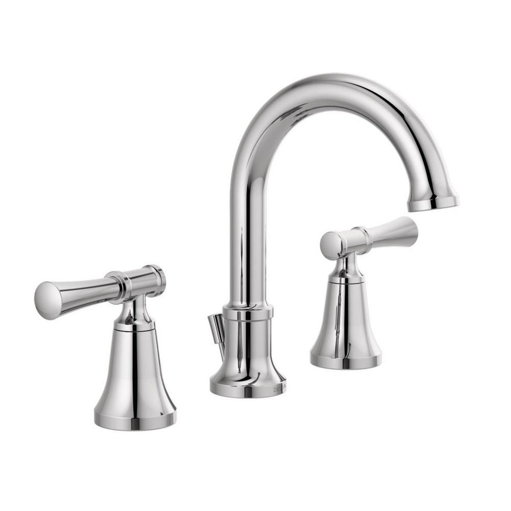 Delta Chamberlain 8 In Widespread 2 Handle Bathroom Faucet In Chrome 35747lf The Home Depot Bathroom Faucets Faucet Chrome Bathroom Fixtures [ 1000 x 1000 Pixel ]