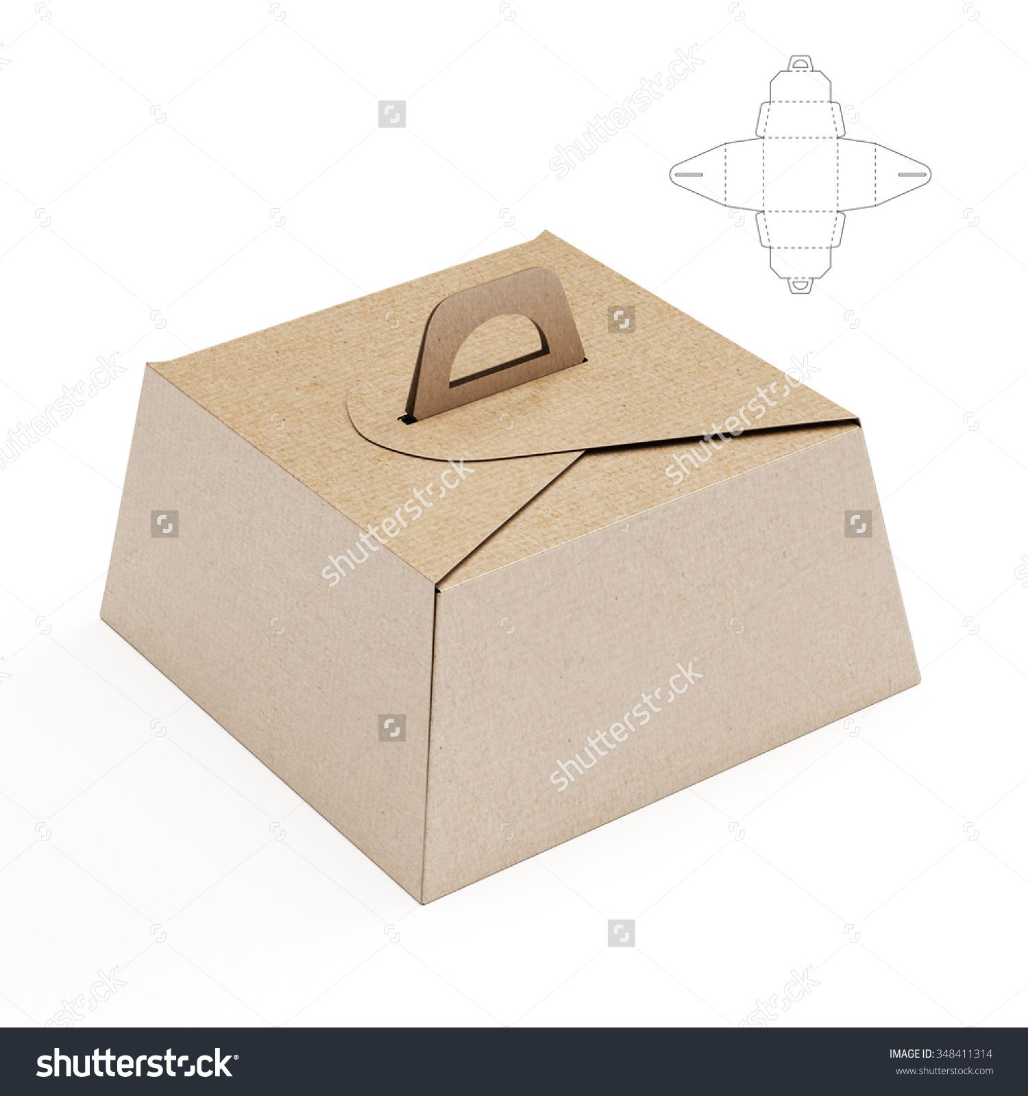 birthday cake box with handle and cut template diy birthday
