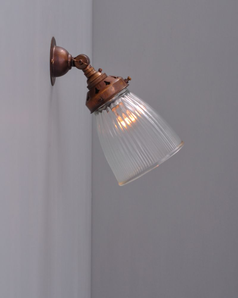 Peterstow prismatic spotlight xs a lovely traditional spot light the prismatic glass shade on this spot light is available in small and medium adding a touch of elegance to this very functional wall light aloadofball Images