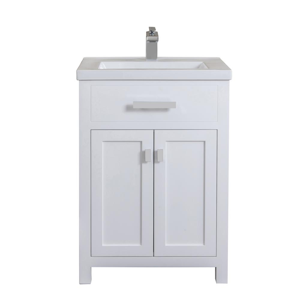 Water Creation Myra Collection 24 In Bathroom Vanity In Pure White With Ceramics Vanity Top In White Vanity Only Single Bathroom Vanity Bathroom Styling Small Bathroom