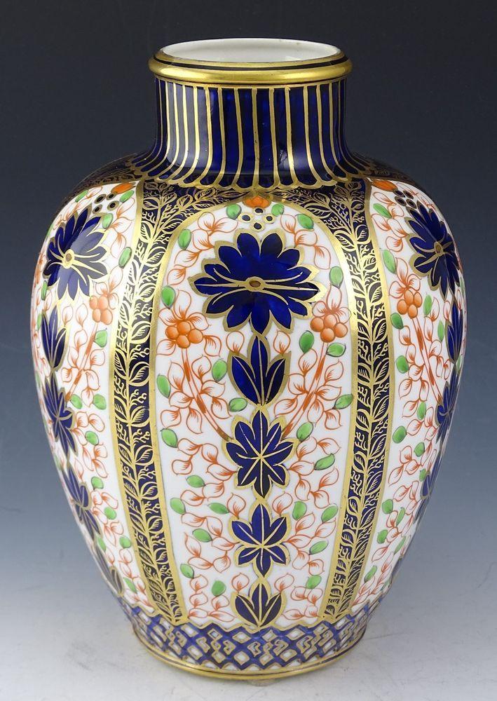 Royal Crown Derby Old Imari Vase Dated