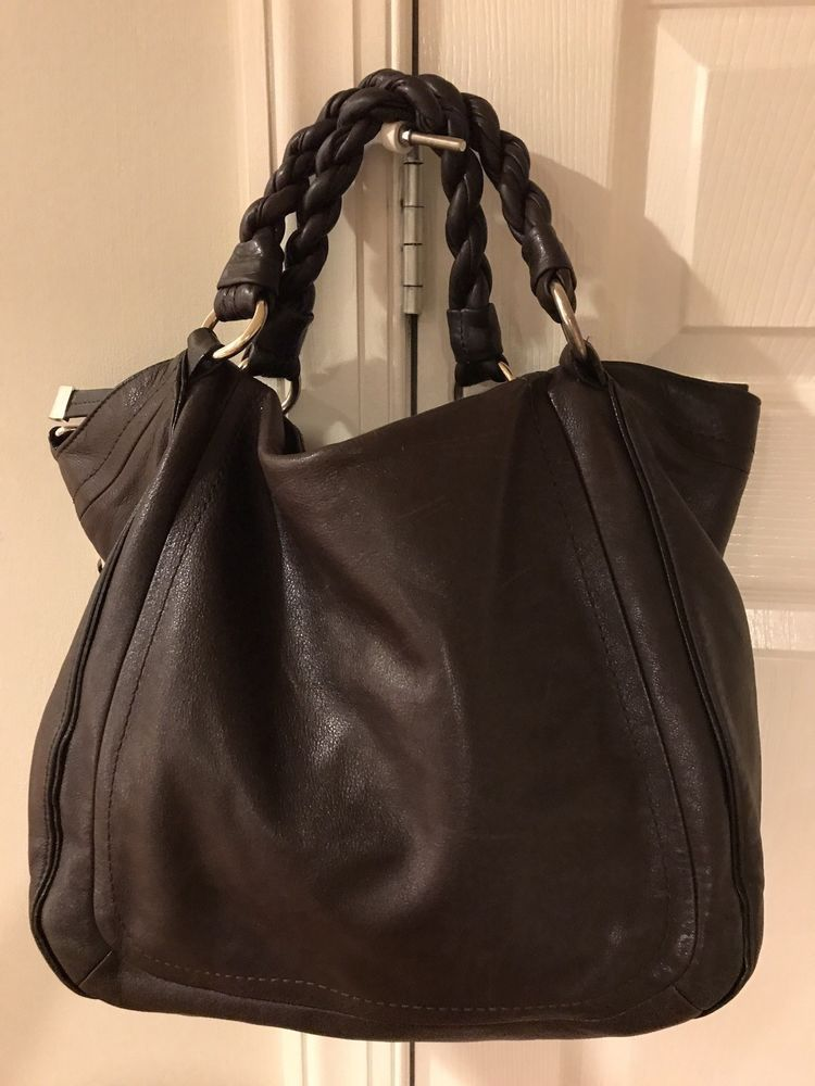 eb4fa38a67c6 Banana Republic Brown Leather Bag Purse Hobo Crossover Braided   BananaRepublic  Hobo