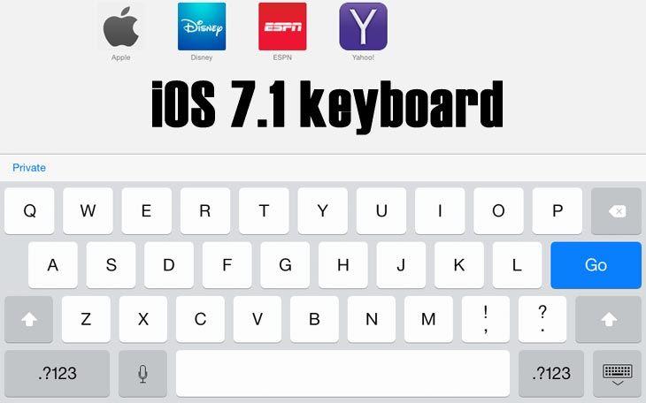 Ios 7 1 Vs Ios 7 Keyboard Changes Ios 7 Keyboard Mac Mini