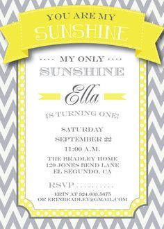 Superior You Are My Sunshine Party Invitations   Google Search