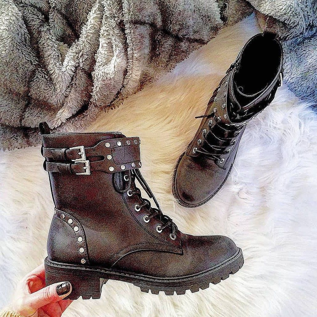 Studded combat boots, dupe for Sam Edelman Jennifer boots