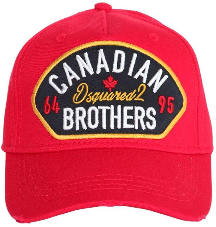 07ab28be9f54d DSQUARED2 Canadian Brothers Patch Baseball Hat