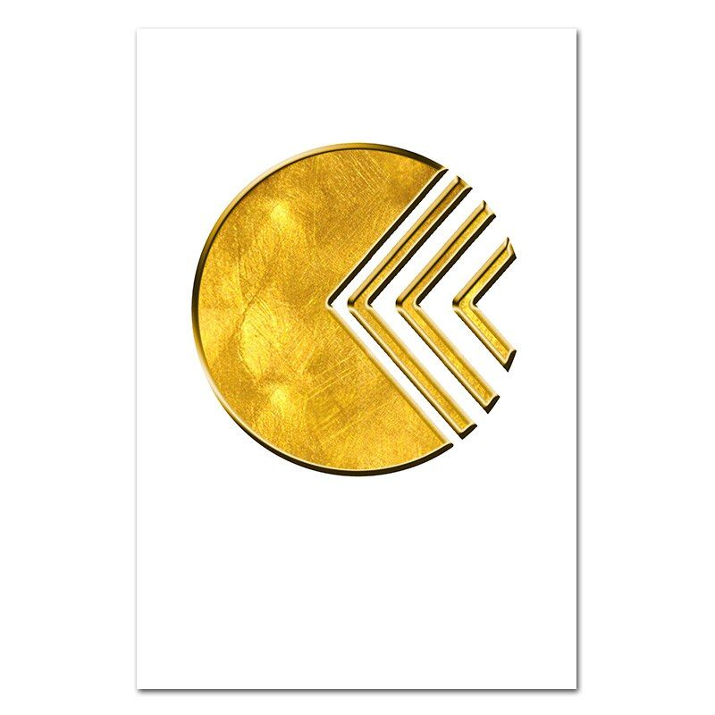 Minimalist home golden circle poster wall art abstract