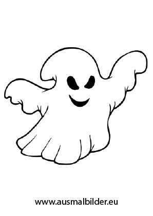 Ausmalbild Fieses Gespenst | Halloween | Pinterest | Ausmalbilder ...