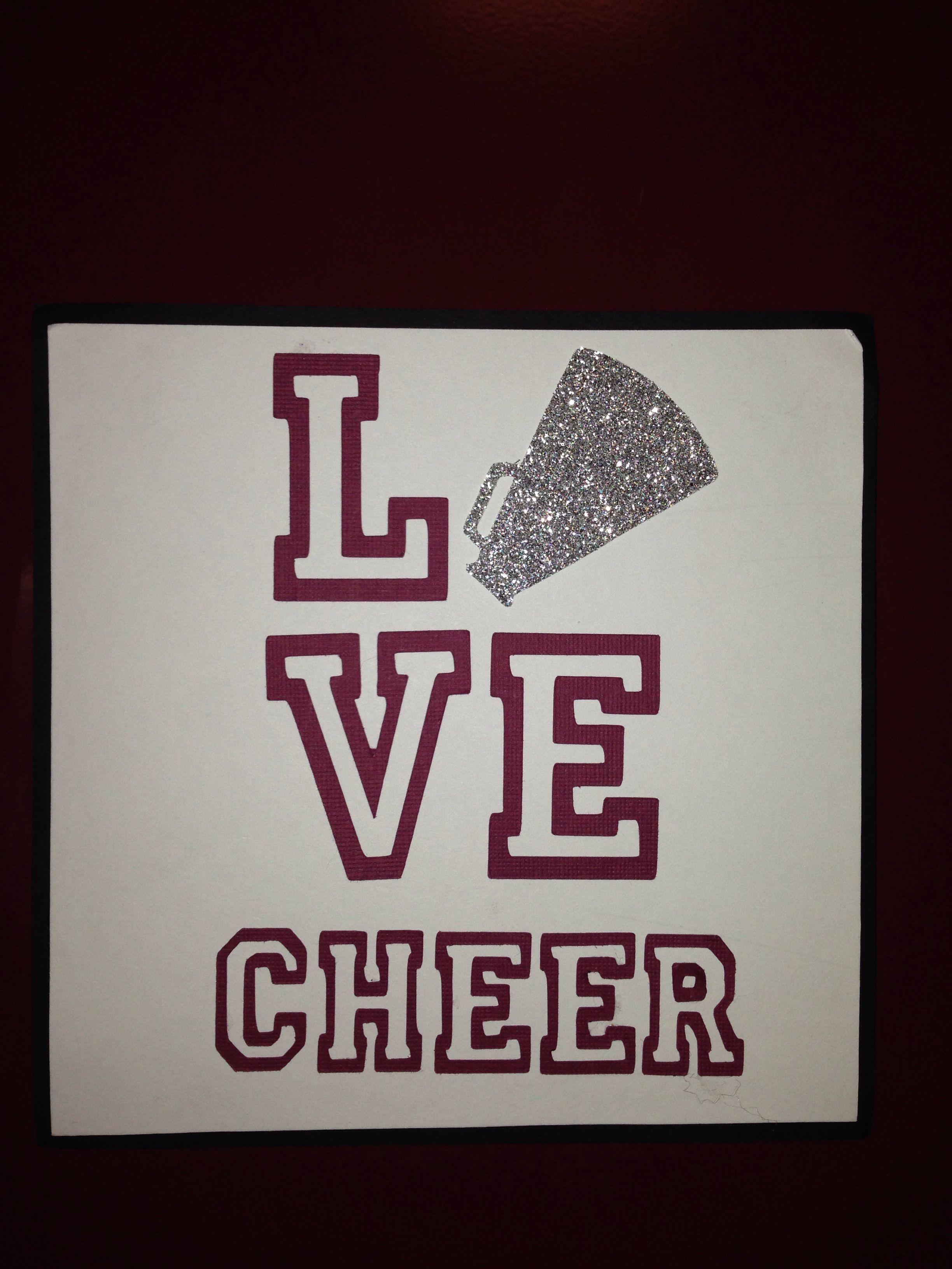 Cheerleading locker signsdecoration Matted on black cardstock