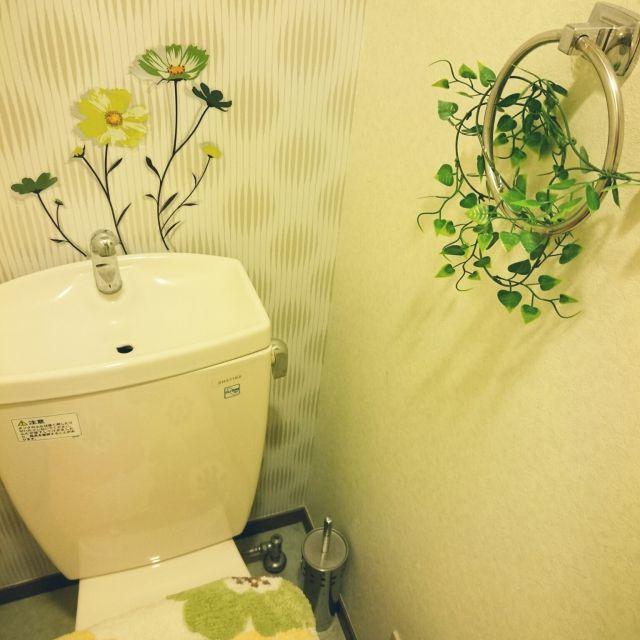 バス トイレ 3coins ダイソー セリア トイレ などのインテリア実例