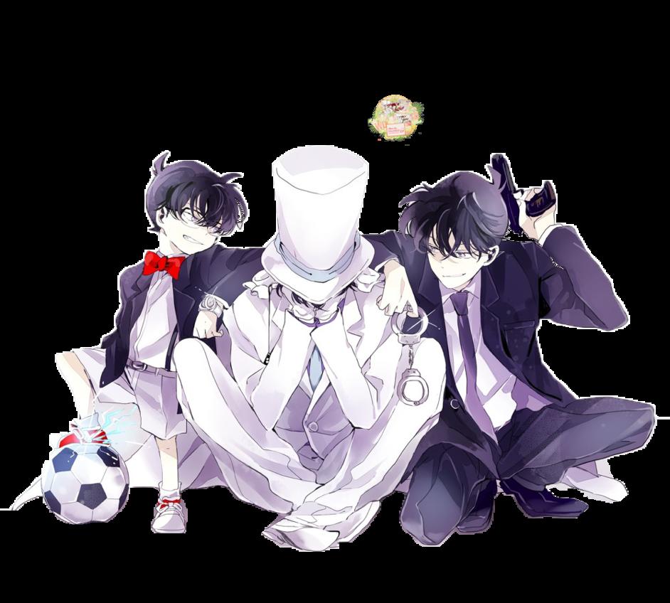 Conan , Shinichi And KID By