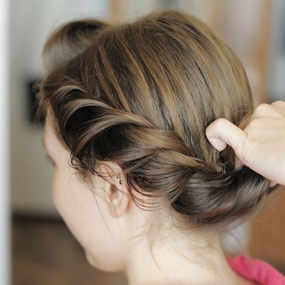 Römische Frisuren zum Nachstylen  Frisur hochgesteckt