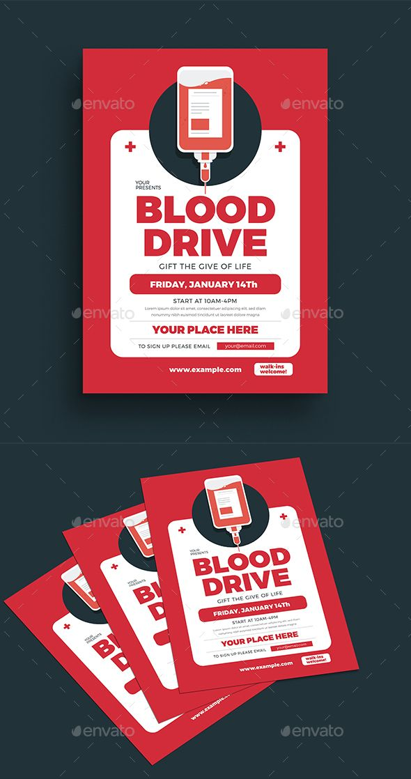 blood drive event flyer template psd  ai