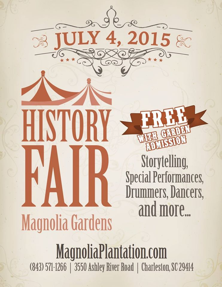 July 4th, 2015 History Fair - Story telling, Special Performances, Drummers, Dancers, and more! Magnolia Plantation and Gardens Charleston, SC