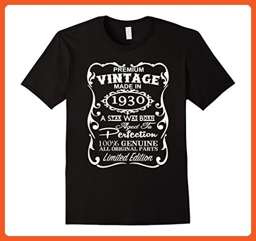 Mens Made In 1930 87th Birthday 87 Years Old Gift T Shirt XL Black