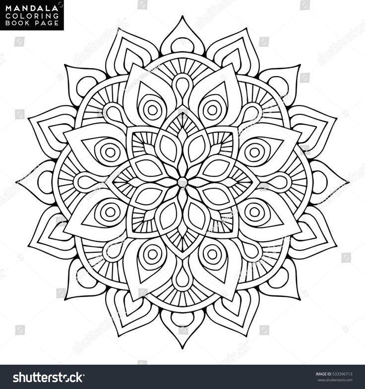 Blumen Mandala Vintage Dekorative Elemente Orientalisches Muster Vektorillustrati Cricut Mandala Ausmalen Mandalas Zum Ausmalen Mandala Malvorlagen