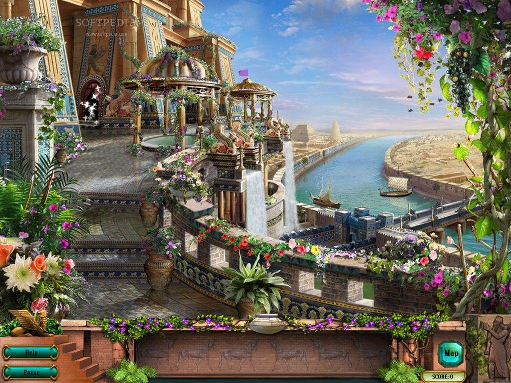 Hanging Gardens Of Babylon Hangender Garten Fantasielandschaft Anime Landschaft