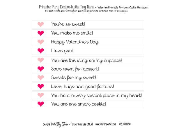 printable fortune cookie quotes quotesgram be mine pinterest cookie valentine sayings