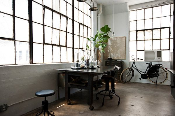 Industrial eclectic Brooklyn loft of Alina Preciado