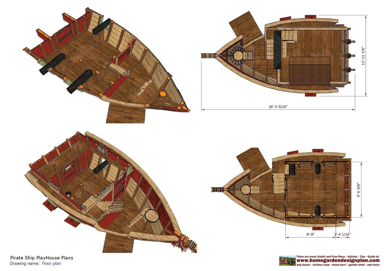 pirate ship construction - Google Search   Pirate ship ...