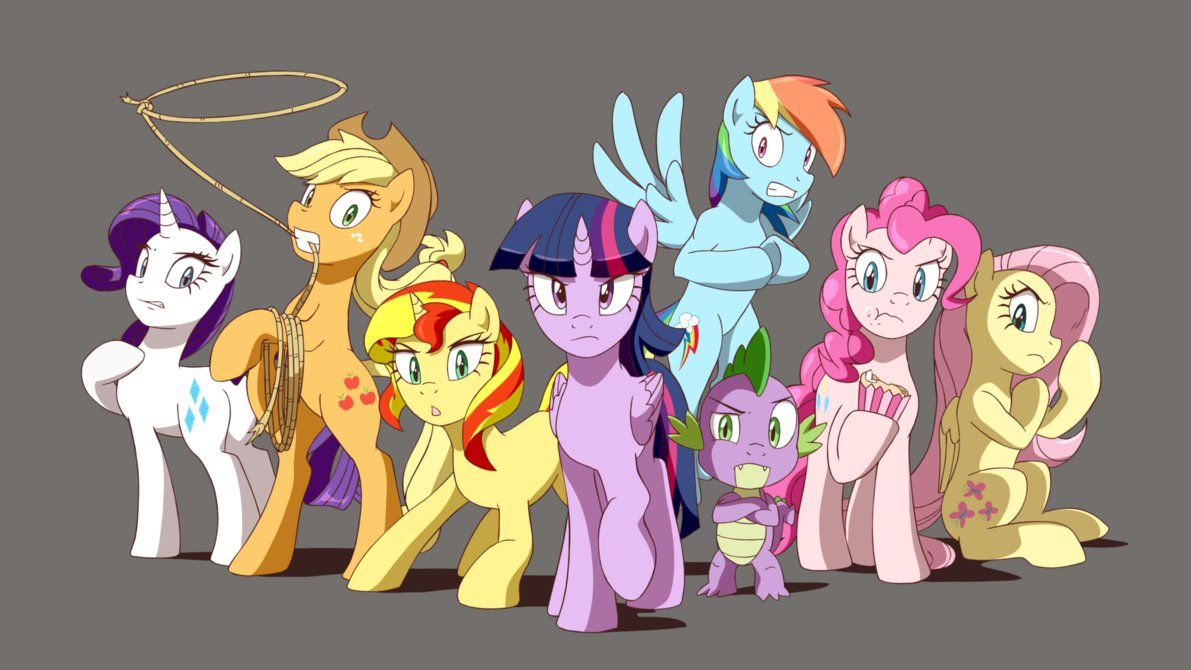 The Mane 6 Sunset Shimmer And Spike They Are Greatest Heroes You Will Ever Meet