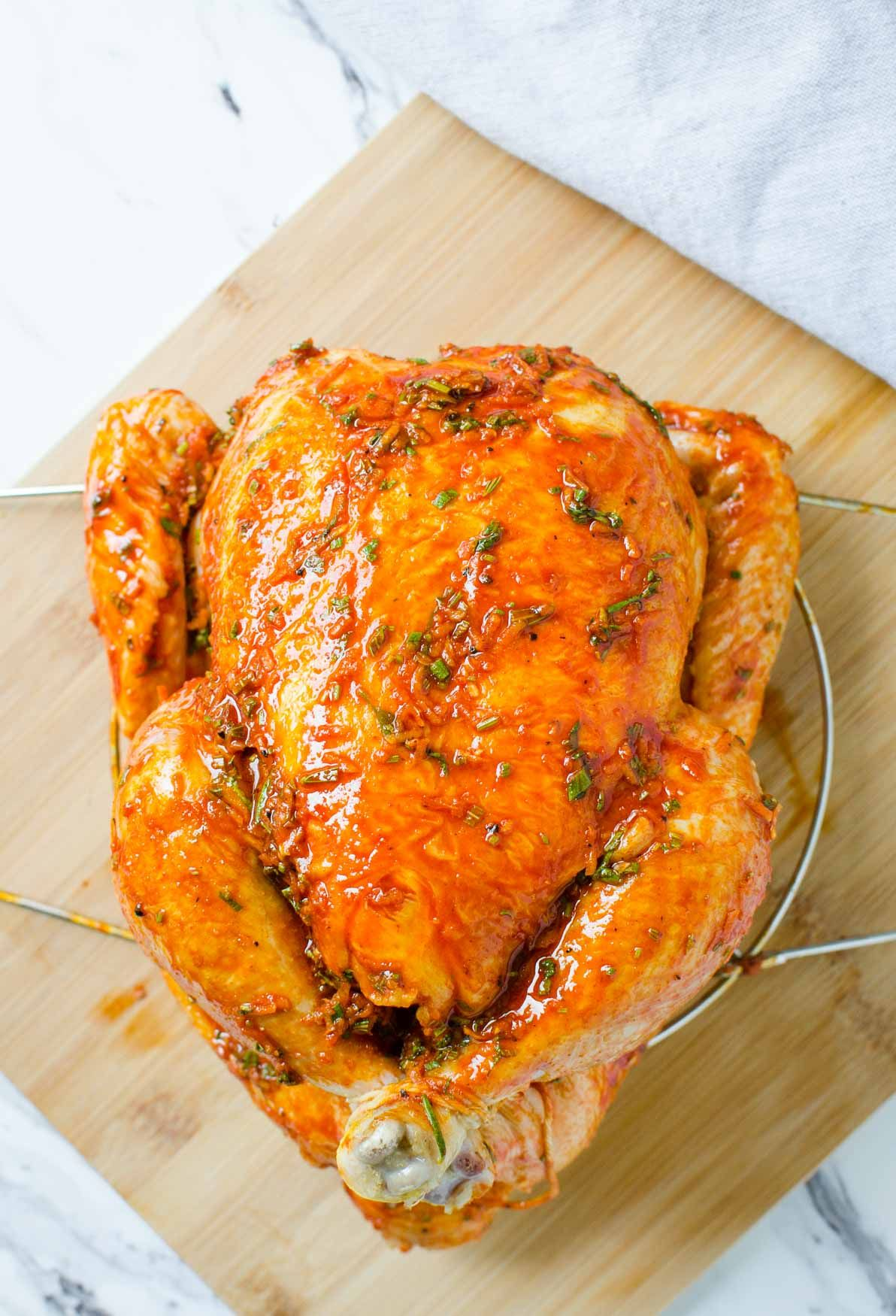 Easy instant pot whole chicken with delicious gravy in 30