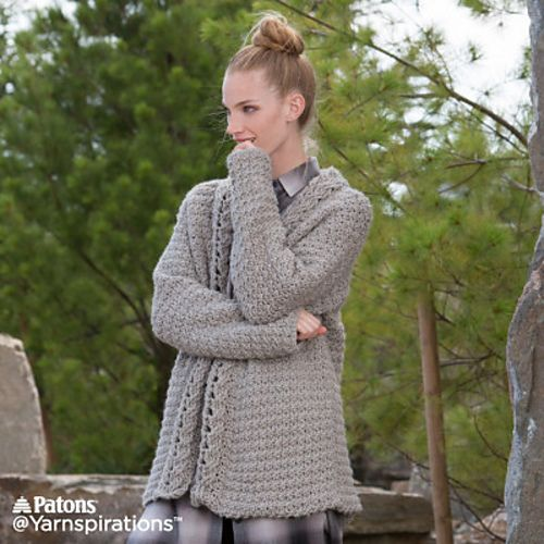 Free Crochet Pattern Slouchy Cardigan Crochet Clothes Pinterest