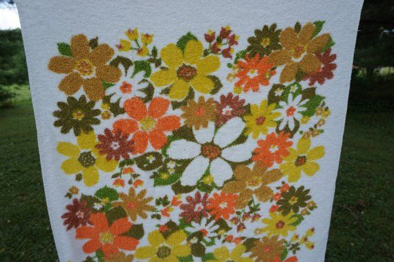 Cannon Vintage Bath Towel All Cotton Floral With Flowers In
