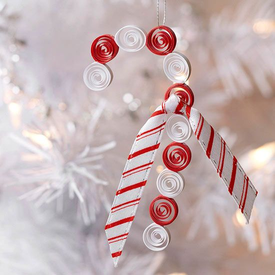 Quilled Candy Cane Christmas Ornament For Kids | Candy Canes, Christmas  Ornament And Ornament