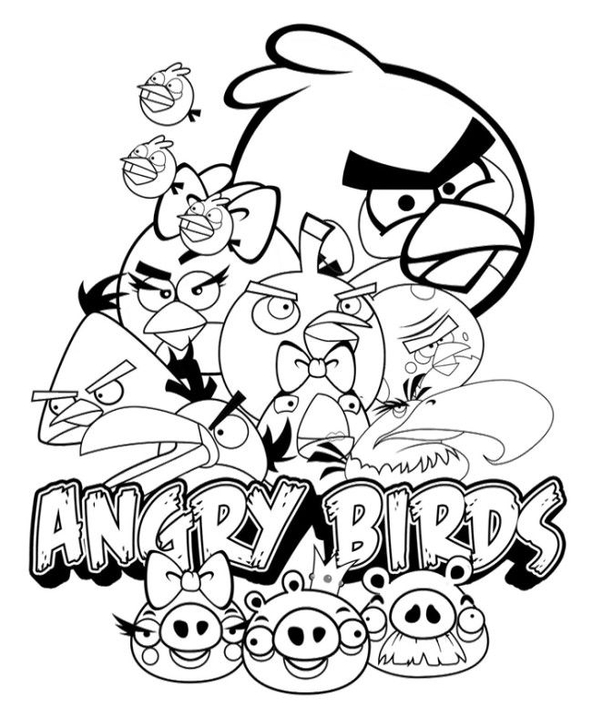 Angry Birds Poster Coloring Pages | Time toooo Relax | Pinterest ...