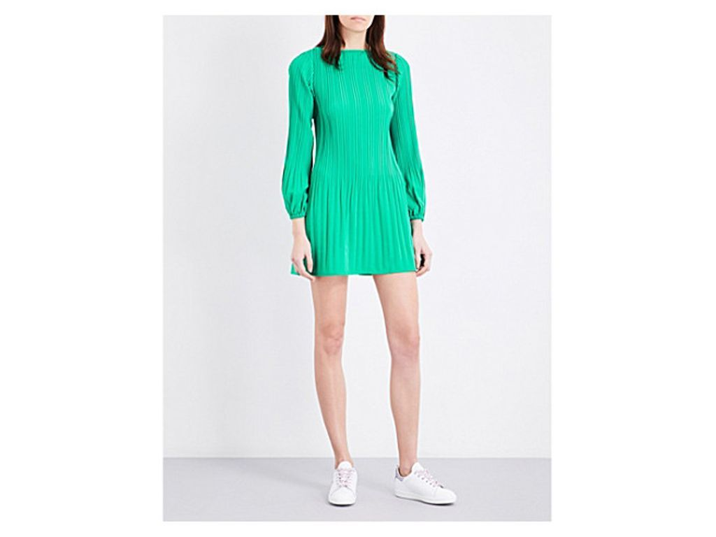 7a529e5fe13e MAJE Rockin pleated crepe mini dress | Women's Fashion | Maje dress ...