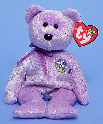 Decade (purple) - Bear - Ty Beanie Babies  f95d36e985fd